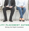 People wait for interview hoping they are the right candidate.